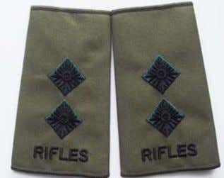 Rifles Rank Slide 2nd Lieutenant Rifles Rank Slide Major Rifles Rank Slide Lieutenant Available through: