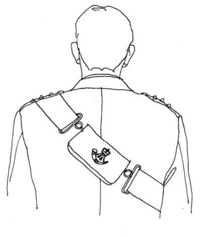 Measuring for a Cross Belt Wearing a No 2 Dress jacket, tie an d shirt the
