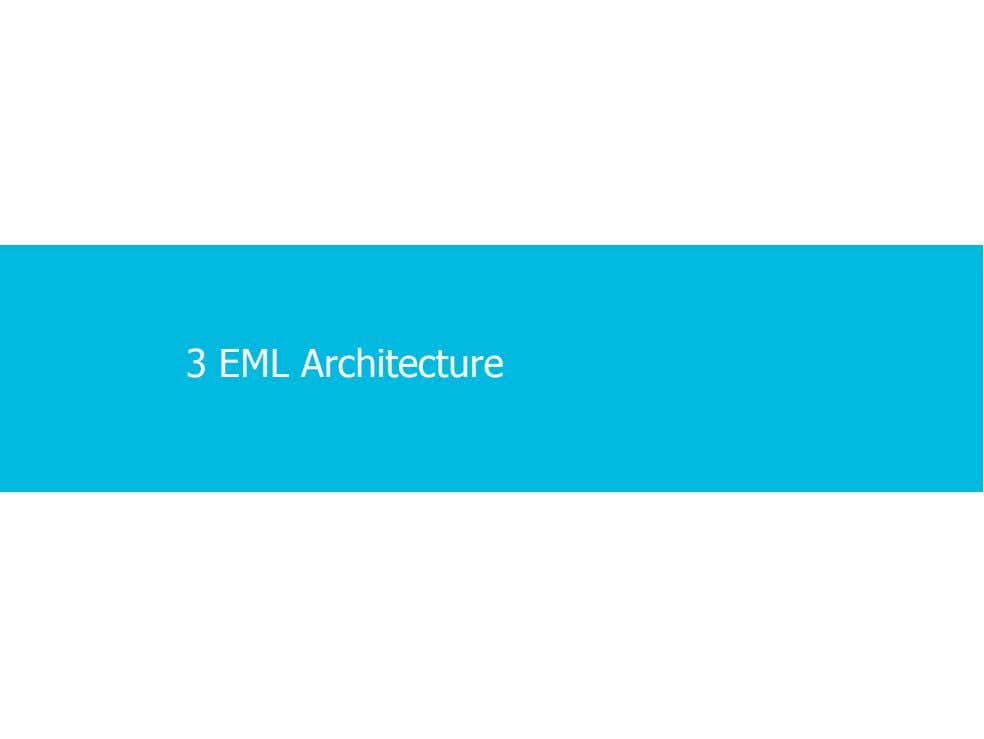 3 EML Architecture 1 · 1 · 23 COPYRIGHT © ALCATEL-LUCENT 2012. ALL RIGHTS RESERVED.
