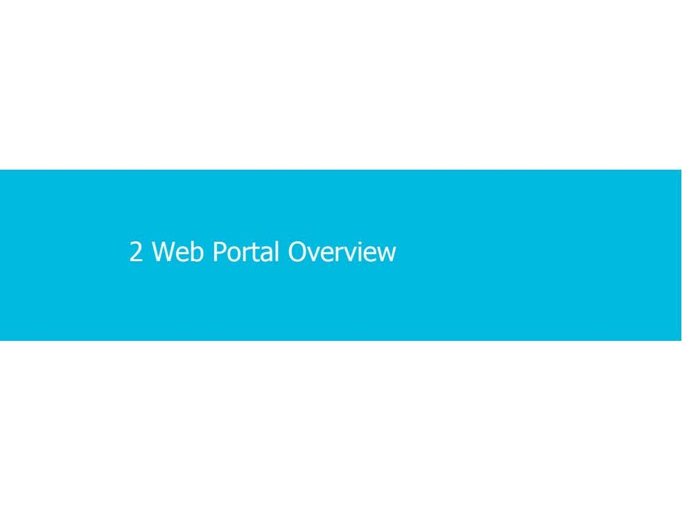 2 Web Portal Overview 2 · 1 · 11 COPYRIGHT © ALCATEL-LUCENT 2012. ALL RIGHTS