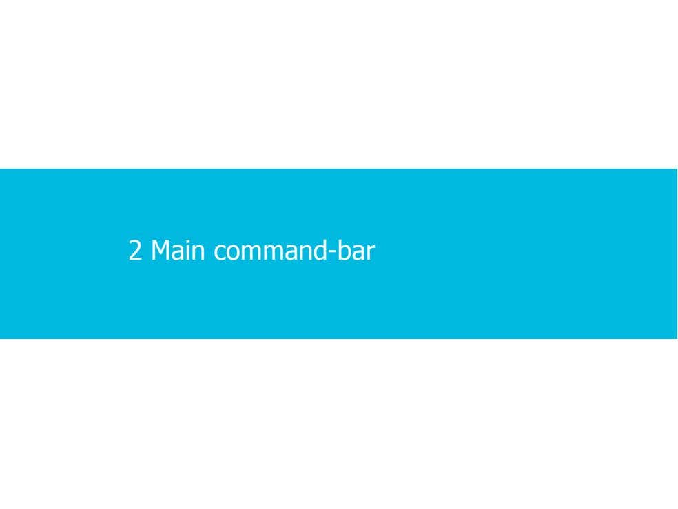 2 Main command-bar 2 · 2 · 17 COPYRIGHT © ALCATEL-LUCENT 2012. ALL RIGHTS RESERVED.