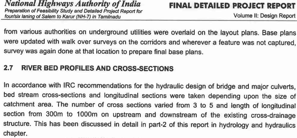 National Highways A athority of India FINAL DETAILED PROJECT REPORT Preparation of Feasibility Study and