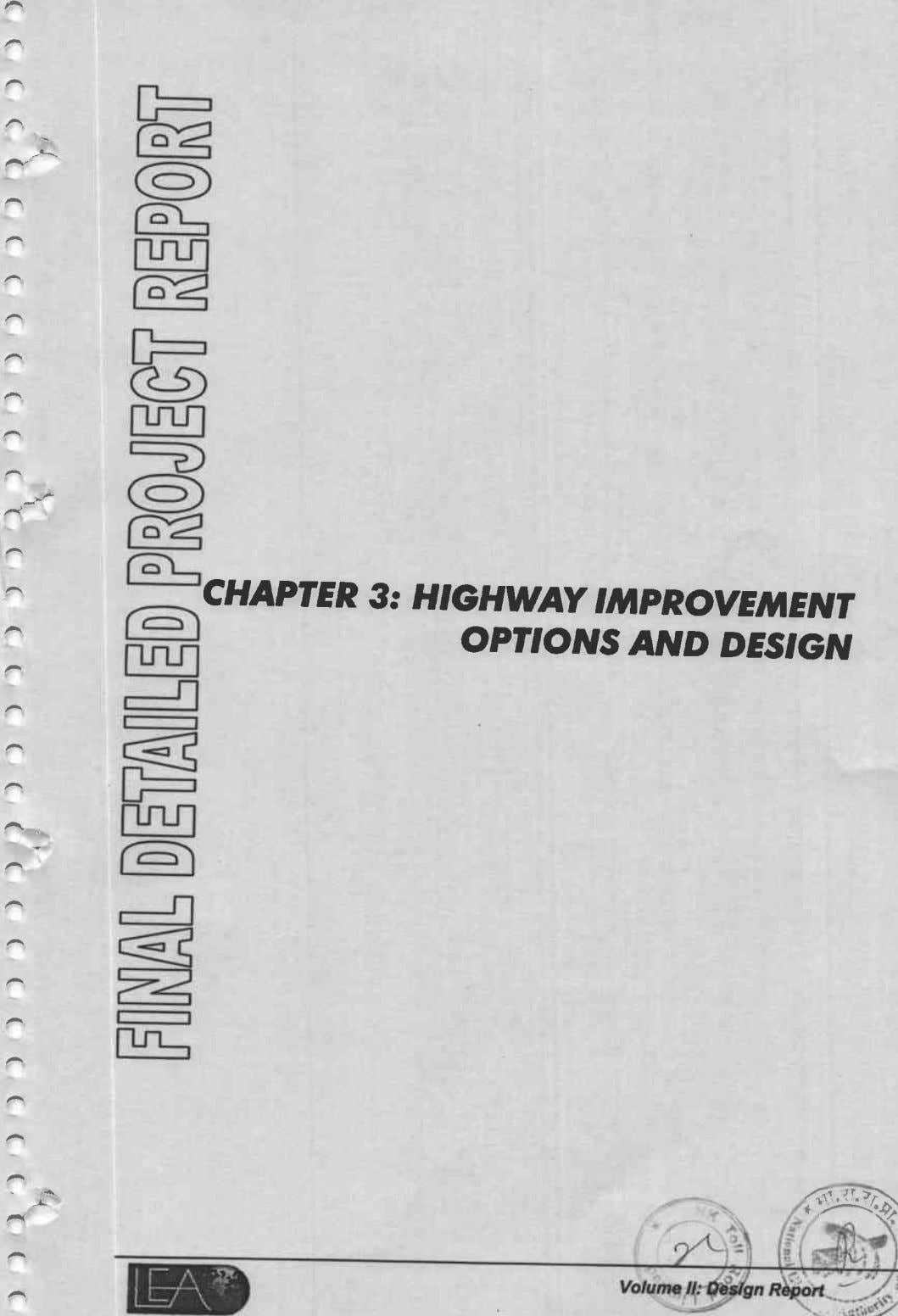 CHAPTER 3: HIGHWAY IMPROVEMENT m OPnONS AND DESIGN