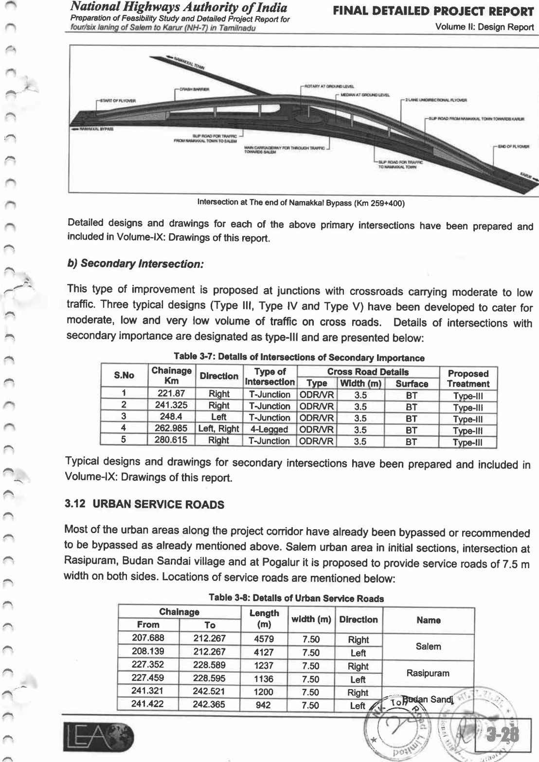 National Highways Authority of India FINAL DETAILED PROJECT REPORT PmpamtionofFeasibility Sfudyand Detailed Project