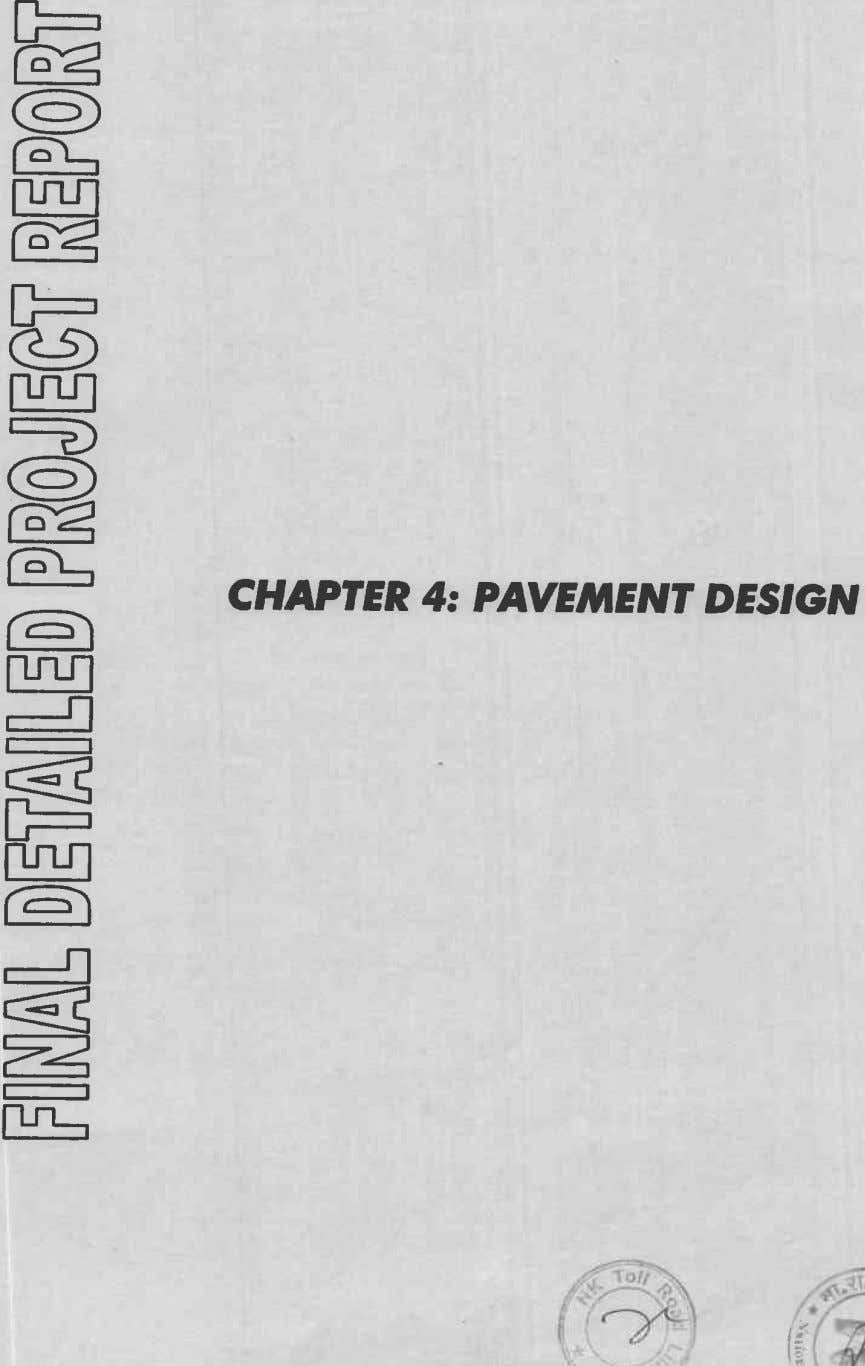 CHAPTER 4: PAVEMENT DESIGN