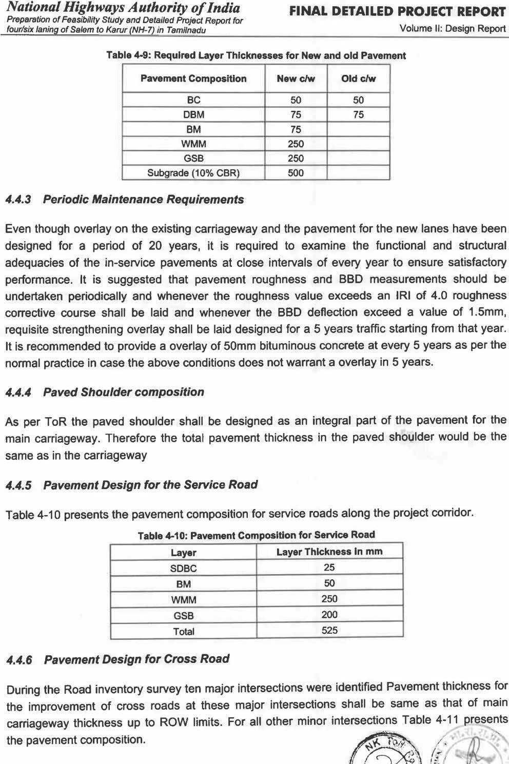 National Highways Authority of India FINAL DETAILED PROJECT REPORT Preparation of Feasibility Sfudy and Detailed