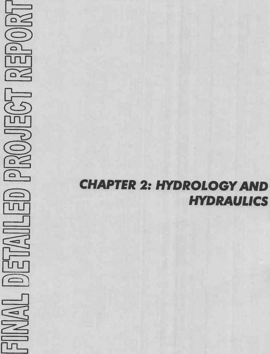 CHAPTER 2: HYDROLOGY AND HYDRAULICS I-'