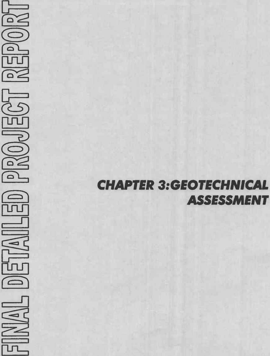 CHAPTER 3:GEOTECHNICAL ASSESSMENT