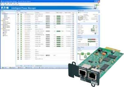 4. USB and RS232 ports cannot be used simultaneously Network Managment Card and Intelligent Power Manager