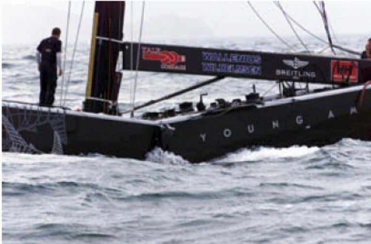 "1999, America's Cup boat ""Young America"" broke in two due to debonding face/core in the sandwich"