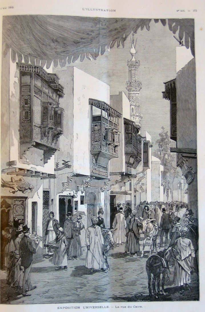 Exposition universelle : rue du Caire L'Illustration, 4 mai 1889 [In-fol. 994/2 61