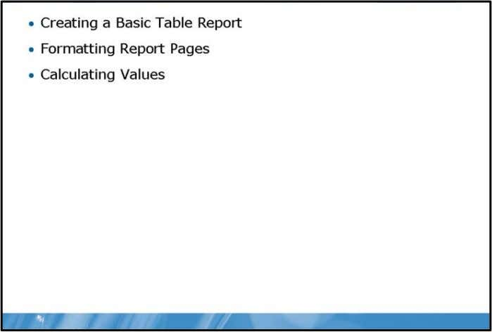 SQL Server® 2008 Reporting Servic Module Overview In this module you will learn the fundamentals of