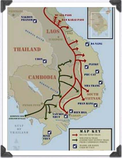 the Ho Chi Minh trail • The South grew incredibly unstable • The US had to