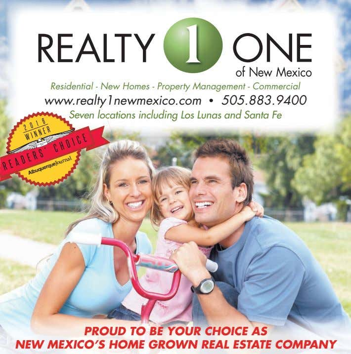 Residential - New Homes - Property Management - Commercial a www.realt ww ty1newmexico.com • 505.883.9400