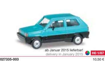 ab Januar 2015 lieferbar! delivery in January 2015 H0 1/87 027335-003 10,50 €