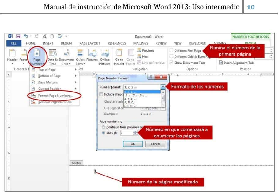 Manual de instrucción de Microsoft Word 2013: Uso intermedio
