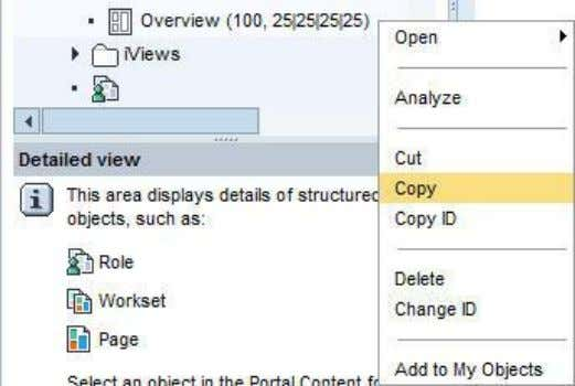 Link 1. Right-click the new PCD object and choose Copy . 2. Navigate to Portal Content