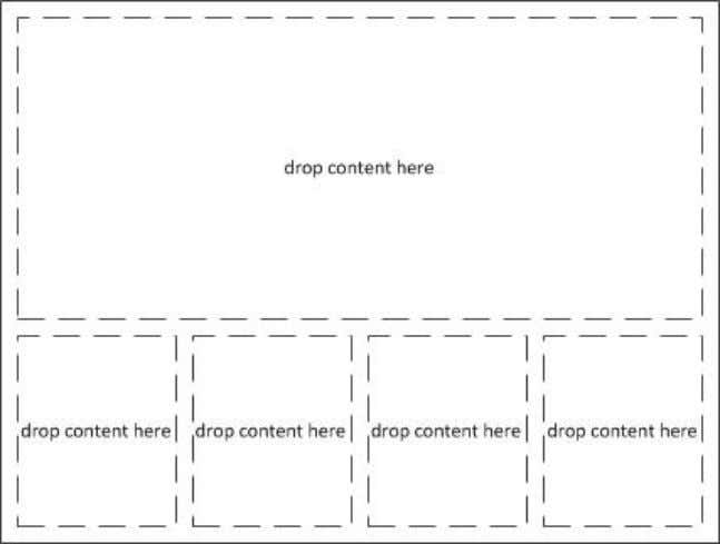four at the bottom. Content can be dropped in any container. In order to create a