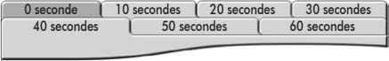 0 seconde 10 secondes 20 secondes 30 secondes 40 secondes 50 secondes 60 secondes