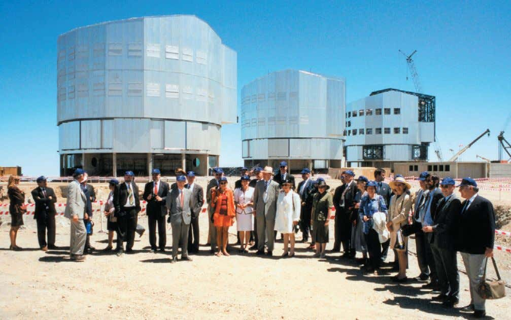 The ESO Council at Paranal Observatory, December 1996. was that frequent change-over of in- struments