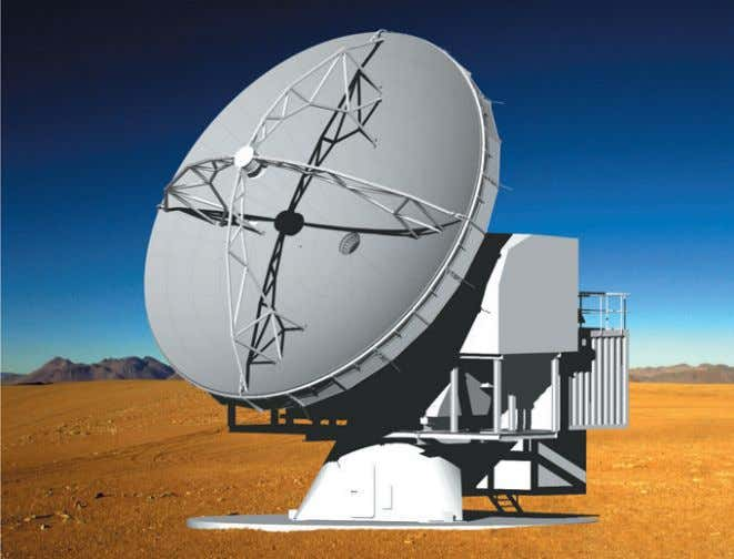 inter- ferometric study with greater spatial resolution. Figure 1: An artist's impression of the APEX antenna.