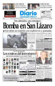 academia, and business have all of the bases covered. LEFT: FRONT PAGE OF EL DIARIO DE