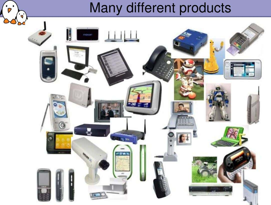 Many different products