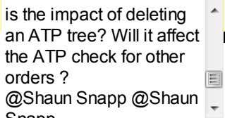 is the impact of deleting an ATP tree? Will it affect the ATP check for