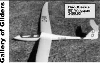 "Duo Discus 98"" Wingspan $499.95 Gallery of Gliders"