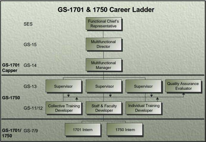 GS-1701 & 1750 Career Ladder Functional Chief's SES Representative Multifunctional GS-15 Director Multifunctional GS-1701 GS-14 Manager