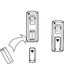 "(cylinder) Remove the battery cover: Slightly press "" "" and push down the cover. Load the"