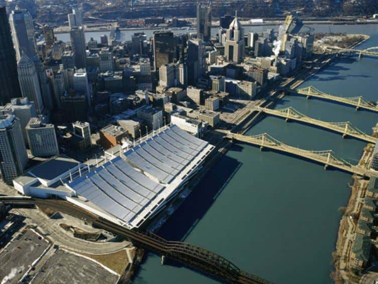 "steel roofing material allows a better heat balance. "" Pittsburgh convention center Photo courtesy of: Rafael"