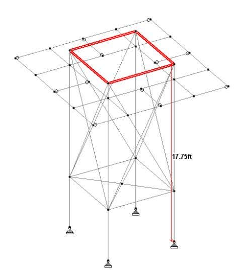 "Bracing Sizes are L5 "" x 5"" x 0.31"" Beam Sizes are HSS: 8"" x 6"""