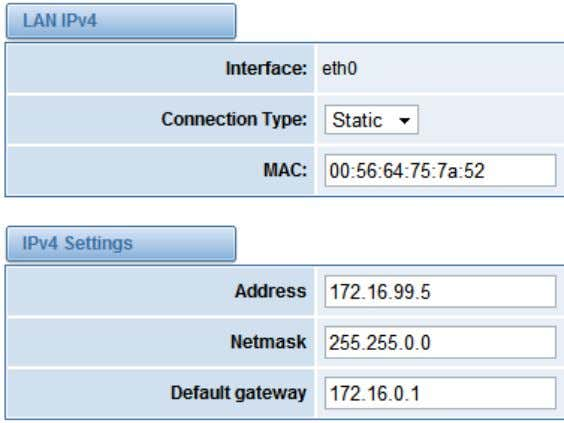 "Settings"" to set network parameters such as IP. Save your changes. Please type in your DNS"