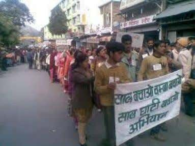 Agitation against 4.5 MW Hul HEP in Himachal Pradesh as it is affecting forests, irrigation channels,