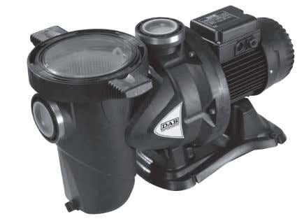 POOL PUMPS EUROSWIM SWIMMINGPOOL CENTRIFUGAL ELECTRIC PUMPS TECHNICAL DATA Operating range: up to 42 m 3