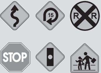 Observe all rules of the road. Particularly pay attention to all warning, regulatory and informational