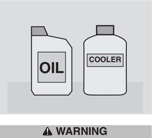 COOLER OIL WARNING