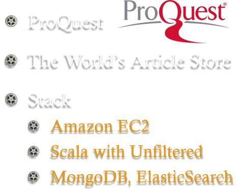 !   ProQuest !   The World's Article Store !   Stack ! !   Scala