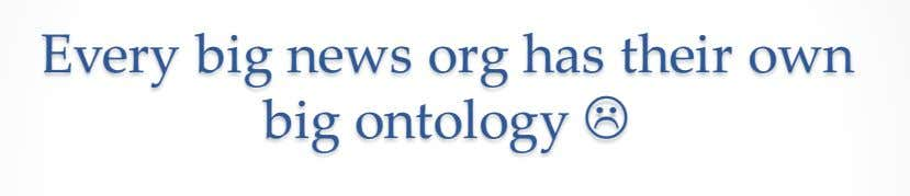Every big news org has their own big ontology L