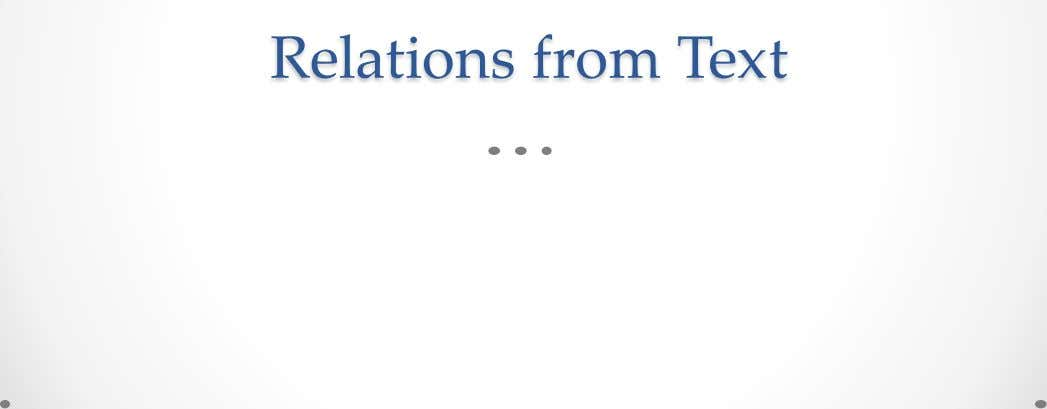 Relations from Text