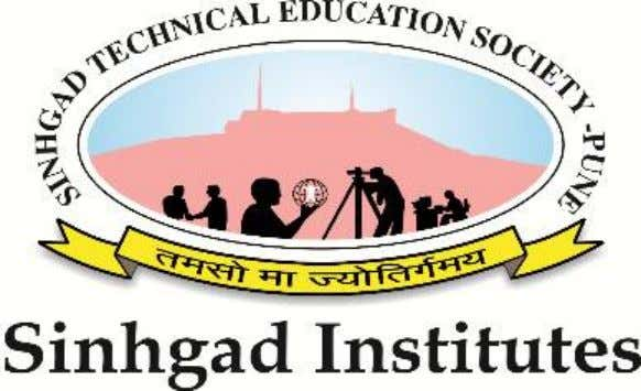 Sinhgad Technical Education Society's Sinhgad College of Engineering, Pune-41 Department of Mechanical Engineering Power