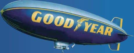 Goodyear (and winged foot design) and Blimp are trademarks of The Goodyear Tire & Rubber