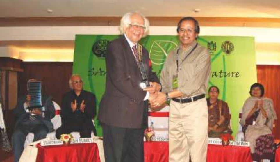 Dr. Abid Hussain presenting the SAARC LITERARY AWARD to Prof. Syed Manzoorul Islam, eminent writer