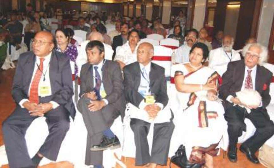 K. Goel, with Ajeet Cour, and Prof. Abhi Subedi from Nepal. In the Audience, from left