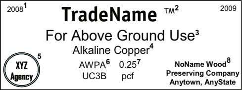 TradeName TradeName TM For Above Ground Use For Above Ground Use 3 3 Alkaline Copper