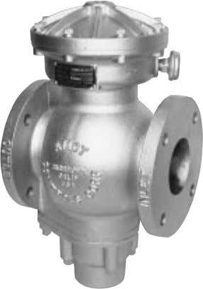 TEMPERATURE Model 2180E DIAPHRAGM OPERATED GAS VALVE OPERATION AMOT Model 2180 valves will shut off the