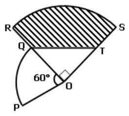 P2 In the below diagram, PQ and PS are arcs of two different circles with centre