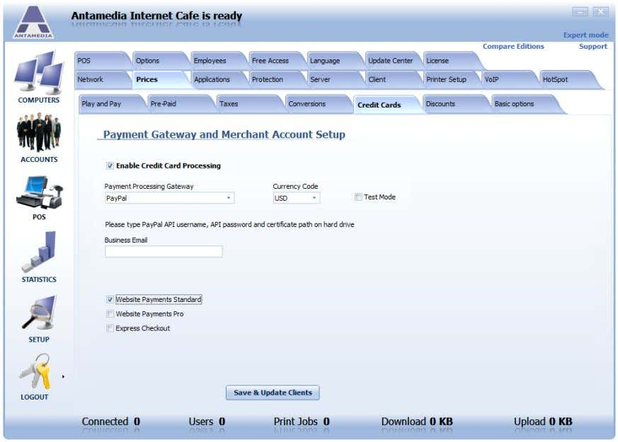 site. This method is the simplest to configure in HotSpot. To configure PayPal Website Payments Standard