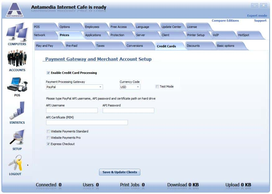 API Username, API Password and path to certificate file. If you are not getting PayPal pages,